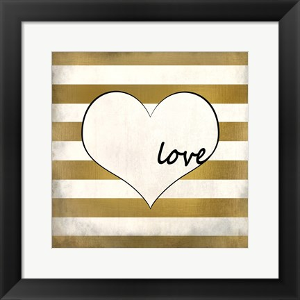 Framed Love Heart Print