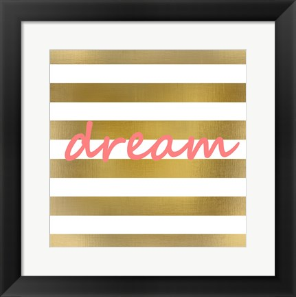 Framed Pink And Gold Dream Print