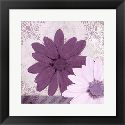 Framed Purple Bloom 2 Print
