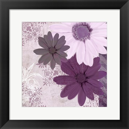 Framed Purple Bloom 3 Print