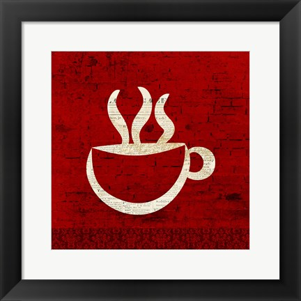 Framed Red Coffee 1 Print