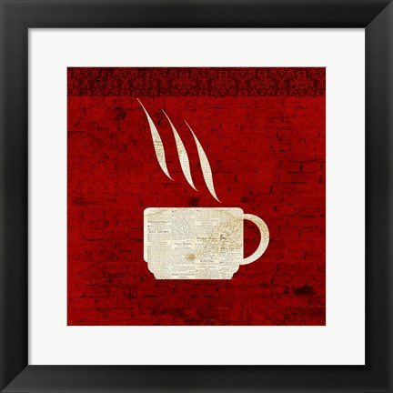 Framed Red Coffee 2 Print