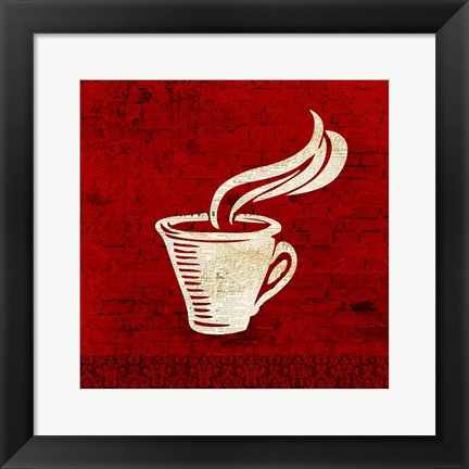 Framed Red Coffee 3 Print