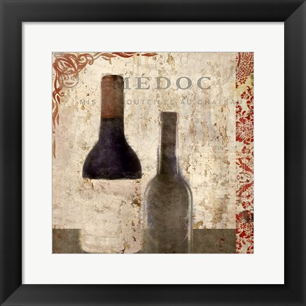 Framed Vintage Wine 2 Print