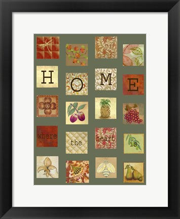 Framed Home Tiles Print