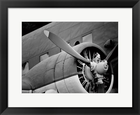Framed lane Engine 1 BW Print
