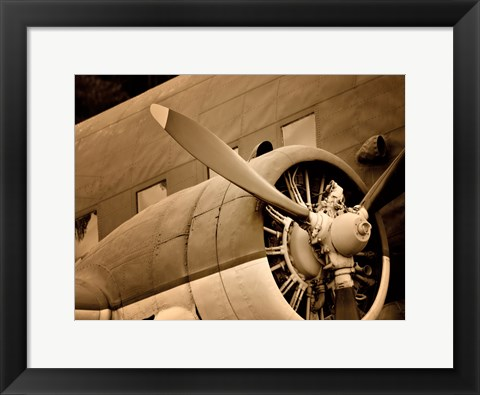 Framed Plane Engine 1 Print