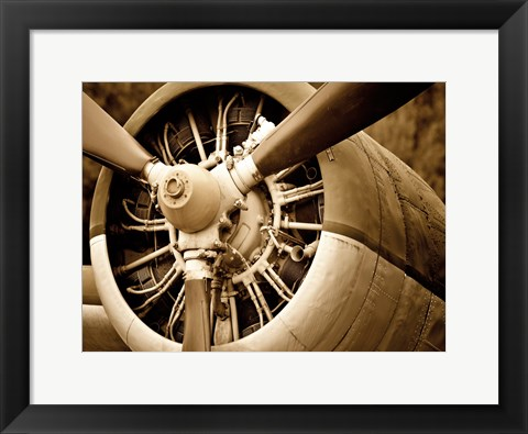 Framed Plane Engine 2 Print