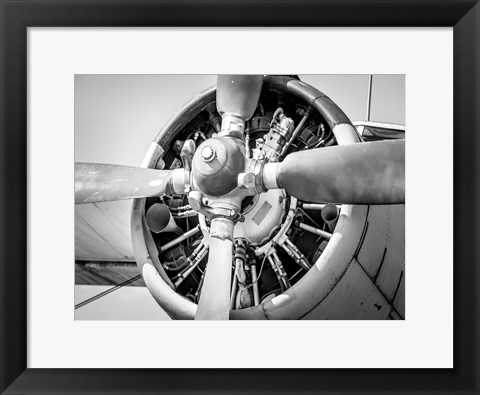 Framed Plane Engine 3 Print