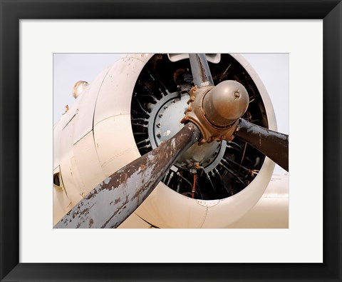 Framed Plane Engine 5 Print