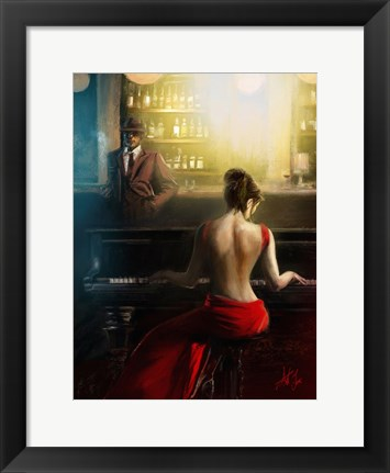 Framed Pianist Ant Fox Print