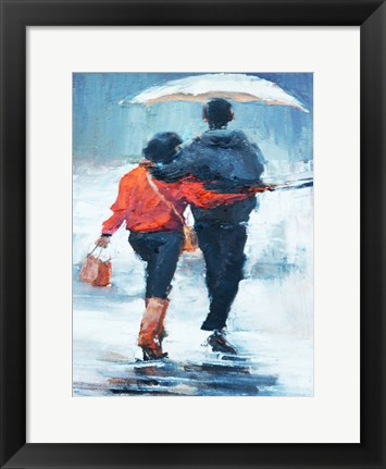 Framed ShenLi's Romance In The Rain Print
