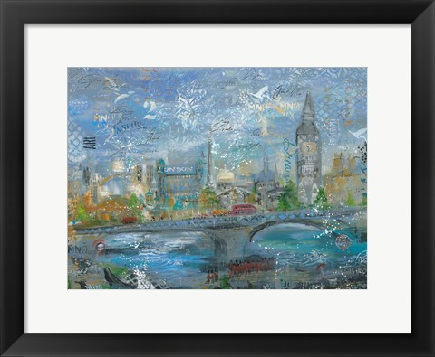 Framed London in the Afternoon Print