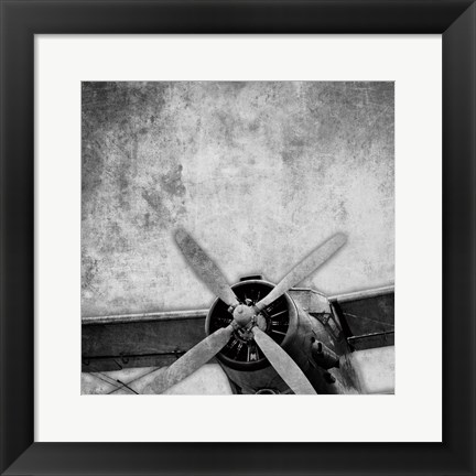 Framed Vintage Plane Engine Print