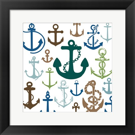 Framed Natural Anchors Print