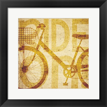 Framed Bike Canvas 2 Print