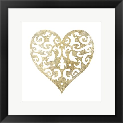 Framed Heart Glitz 1 Print