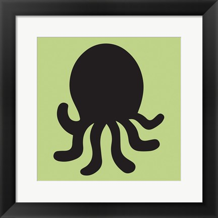 Framed Octopus Cutout Print