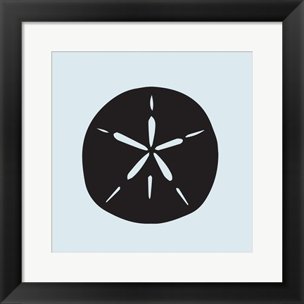 Framed Sand Dollar Cutout Print