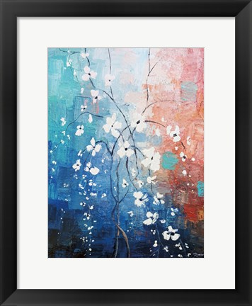 Framed Blooming Glass Print