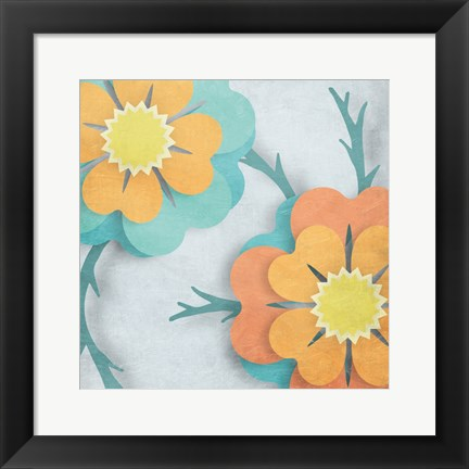 Framed Flowers In The Wind Print