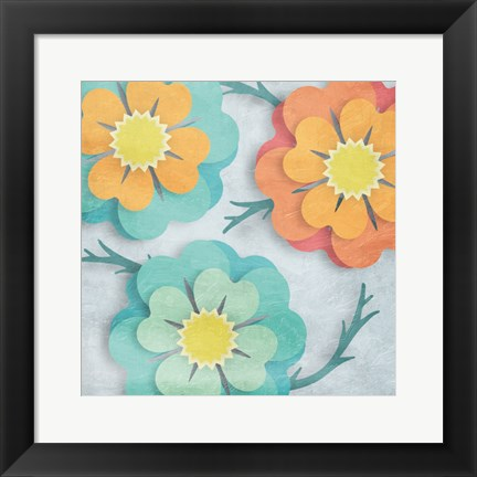 Framed Flowers In The Wind 2 Print