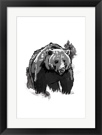 Framed Black Bear Print