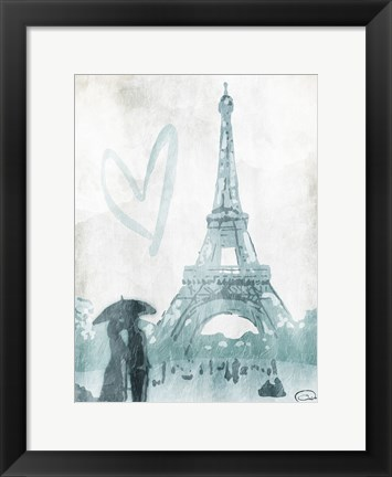Framed Eiffel Love Print