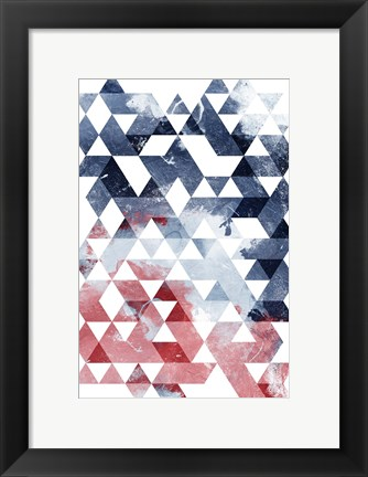 Framed Americana Triangles Print