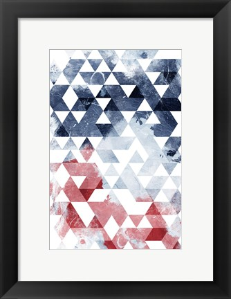 Framed Americana Triangles Too Print