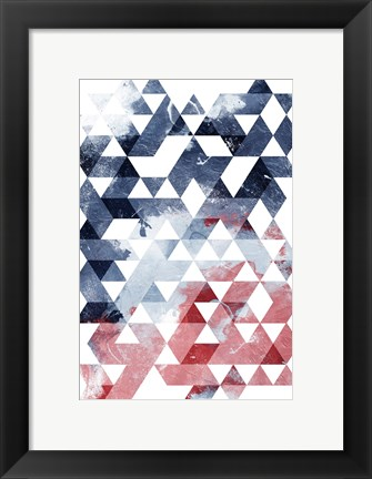 Framed Americana Triangles Third Print