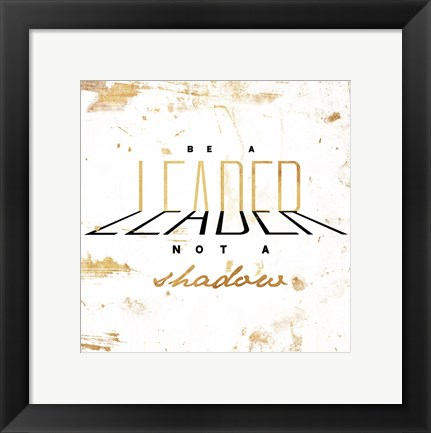 Framed LEADER Gold Print