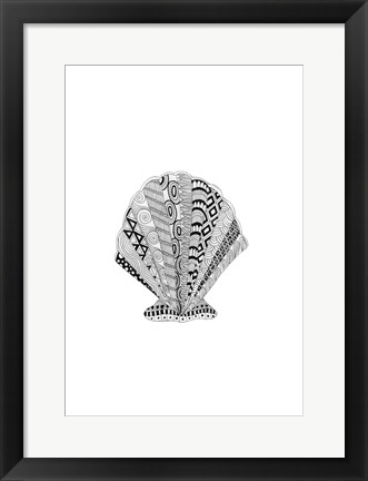 Framed BW Decorated Scallop Print