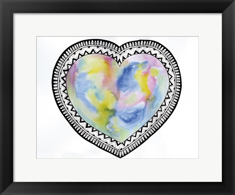 Framed Tribal Heart Print