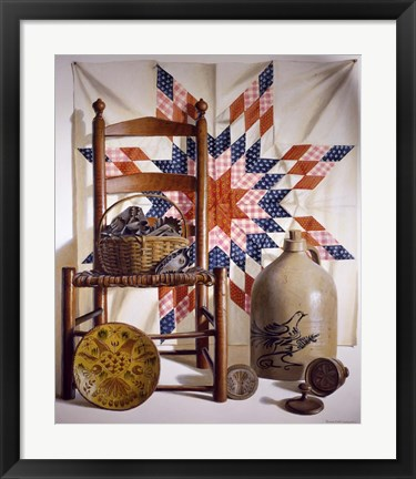 Framed Lone Star & Antiques Print