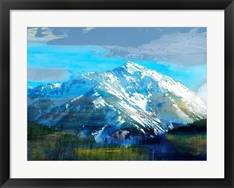 Framed Blue Mountain Print