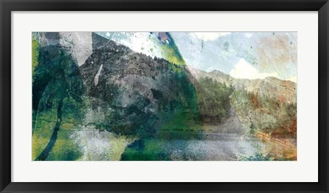 Framed Mountain Abstract I Print