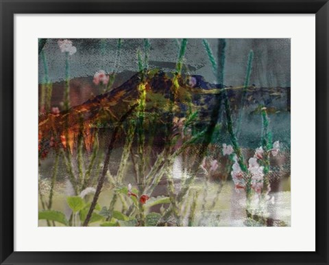 Framed Mountain Wildflowers I Print