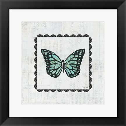 Framed Butterfly Stamp Print