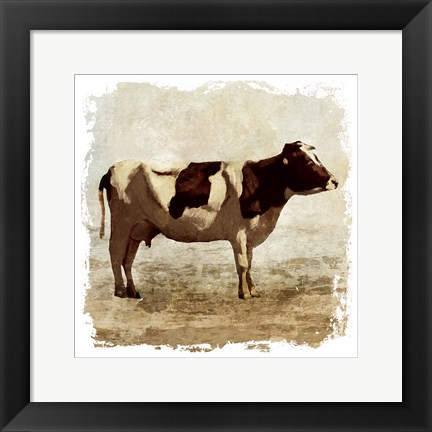 Framed Rustic Cow Print