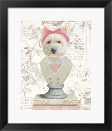 Framed Canine Couture Newsprint II Print