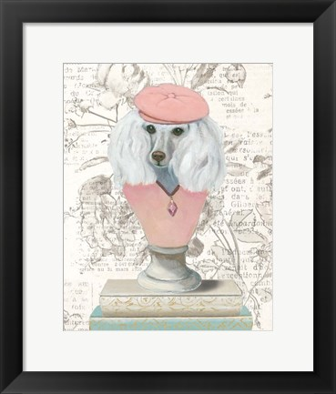 Framed Canine Couture Newsprint IV Print