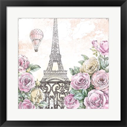 Framed Paris Roses VI Print