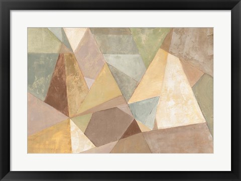 Framed Geometric Abstract Neutral Print