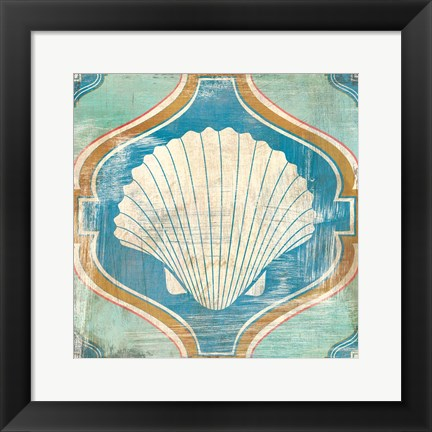 Framed Bohemian Sea Tiles II Print