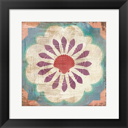 Framed Bohemian Sea Tiles VI Print