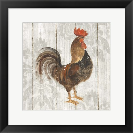 Framed Farm Friend III on Barn Board Print
