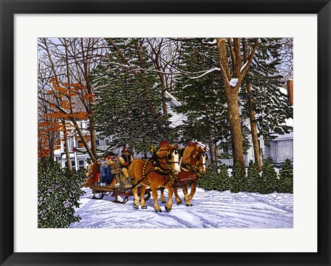 Framed Sleighbells Ring Print
