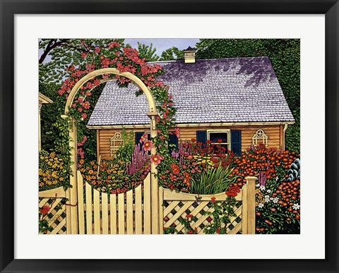 Framed Flowering Arbor Print