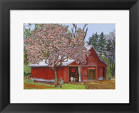 Framed Country Barn Print